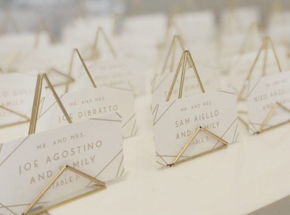 modern place card holders