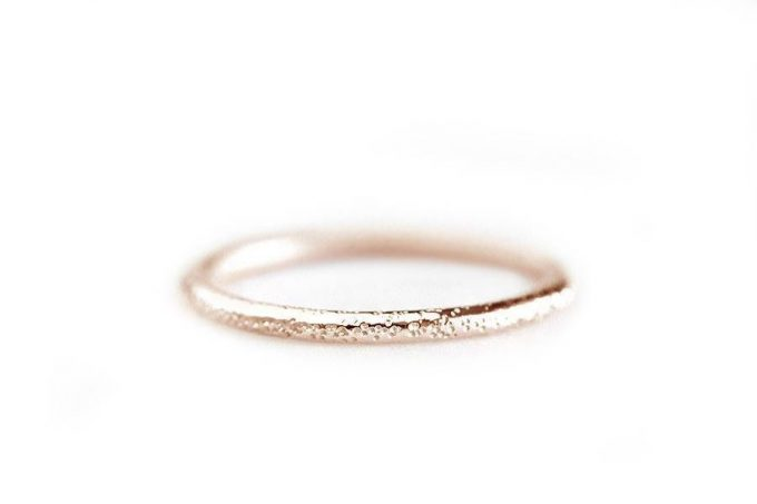 stardust rose gold wedding rings