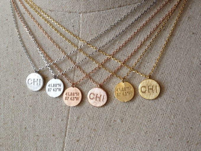 chicago disc necklace