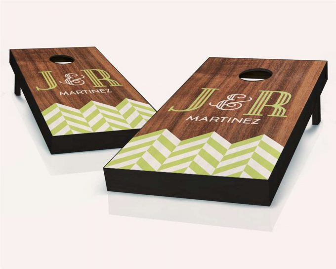 wedding bean bag toss boards