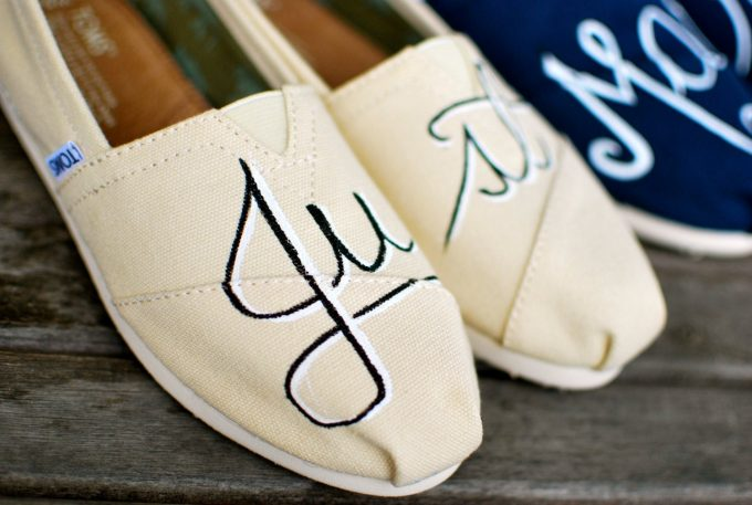 wedding toms shoes