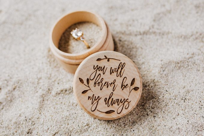 forever be my always round ring box