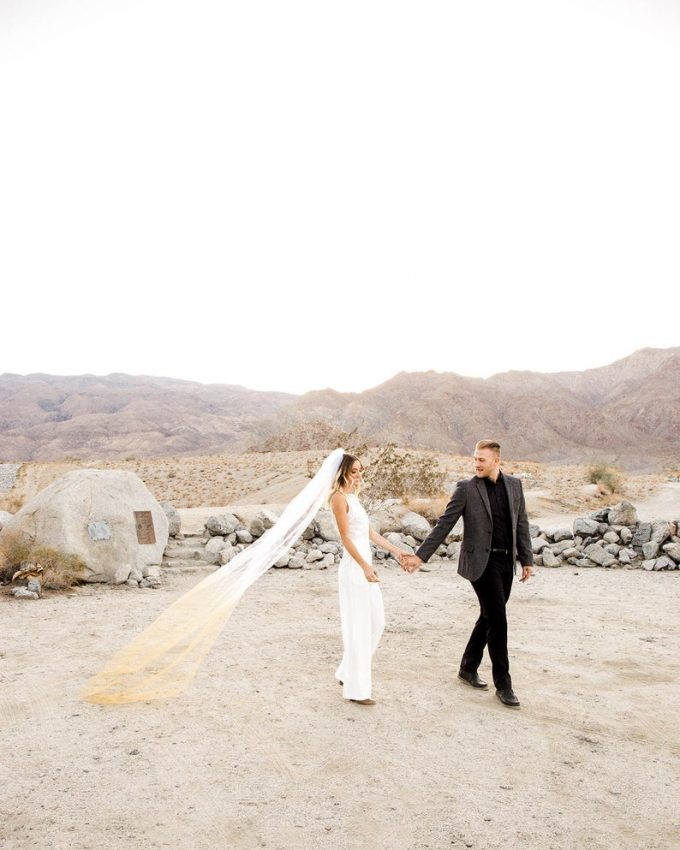 ombre wedding veil, photo by ponce de leon photo, veil by over the moon bridal