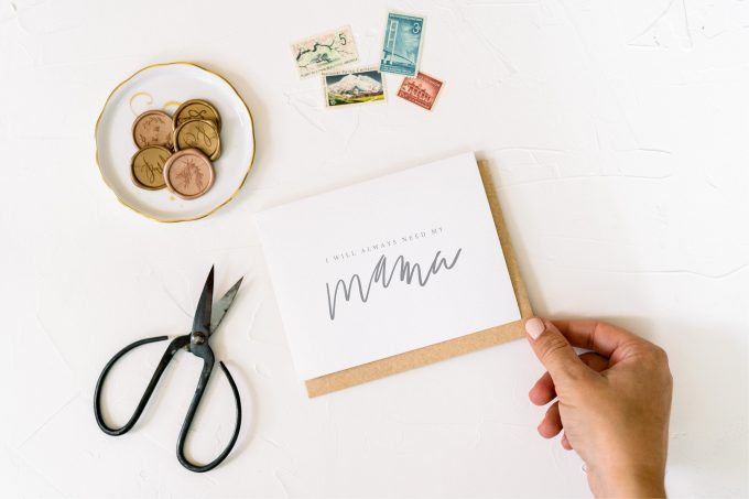 i'll always need my mama card for the mother of the bride from her daughter on her wedding day by workman creative co.