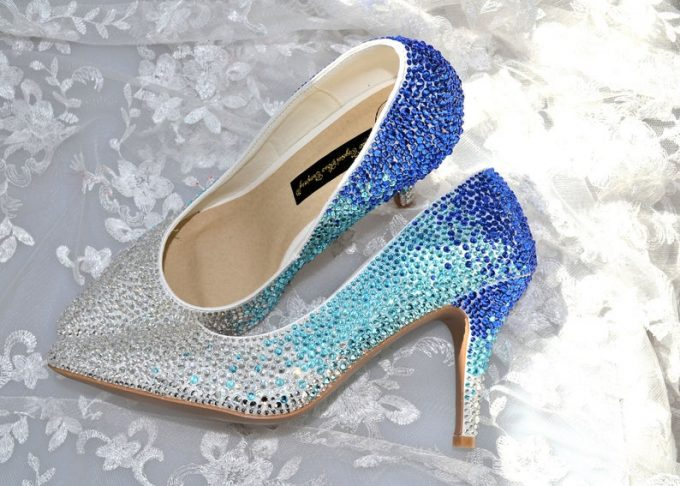 20 Sparkly Wedding Shoes That Take High Heels to the Next Level