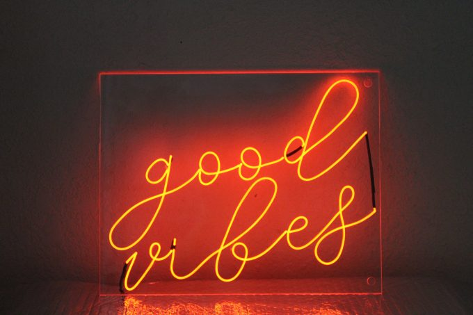 good vibes neon signs for weddings