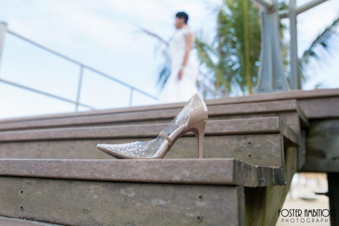the bride's beautiful heels - le club avenue wedding