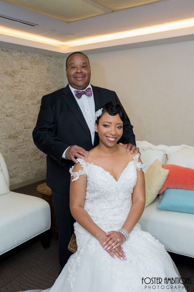 bride with her father - le club avenue wedding