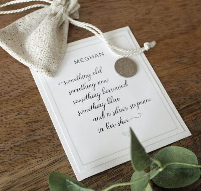 Sixpence Wedding Poem + Coin Gift for