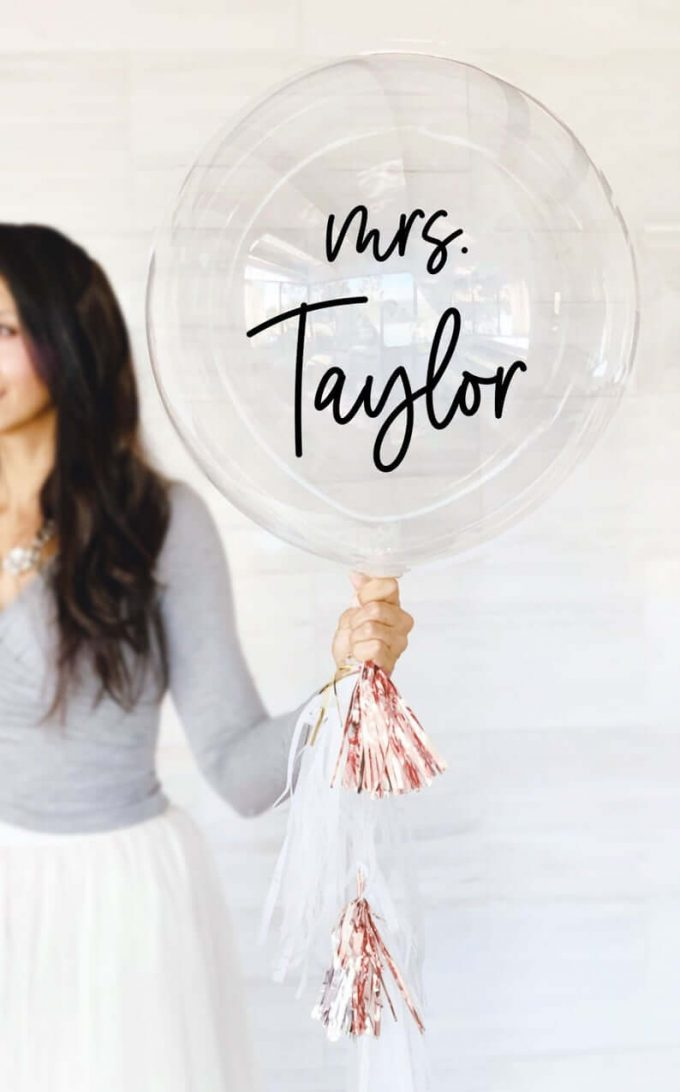 personalized mrs balloons