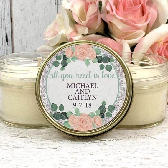 all you need is love candle favors