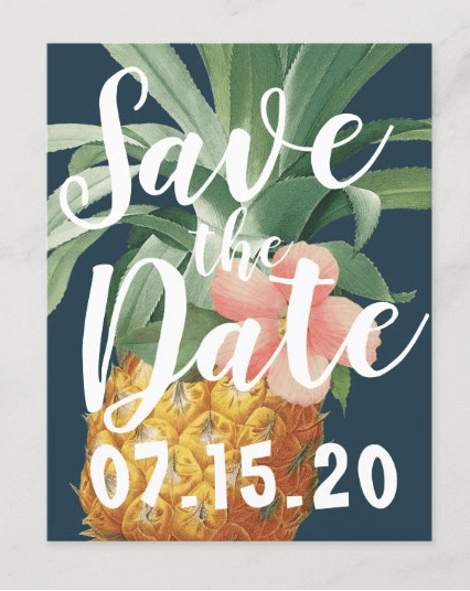 pineapple save-the-date cards