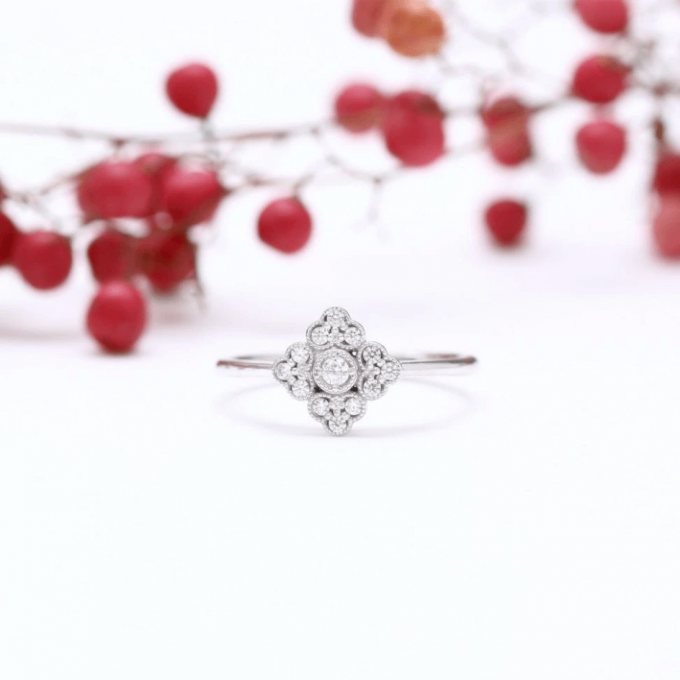 handcrafted art deco engagement ring