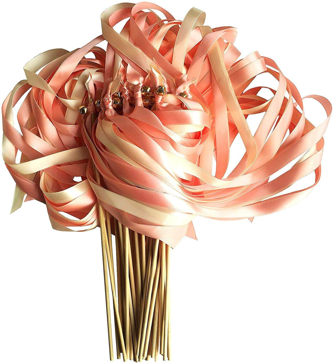 Ribbon Wand Favors With or Without Bell Satin Ribbon Wand Wedding Send Off Wands Guest Ribbon Wands Set of 300 Ribbon Wands Exit Wands