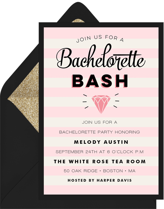 virtual bachelorette party invitations
