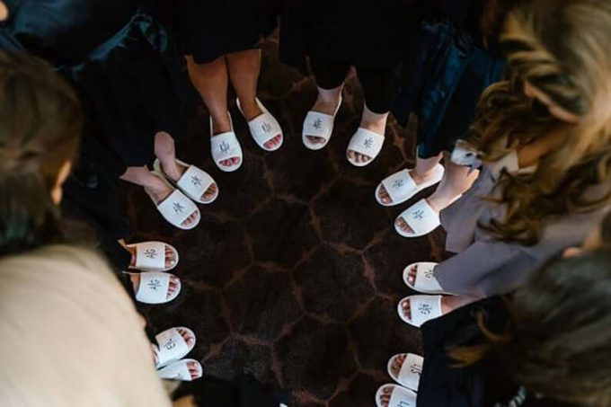 buy bridesmaid slippers