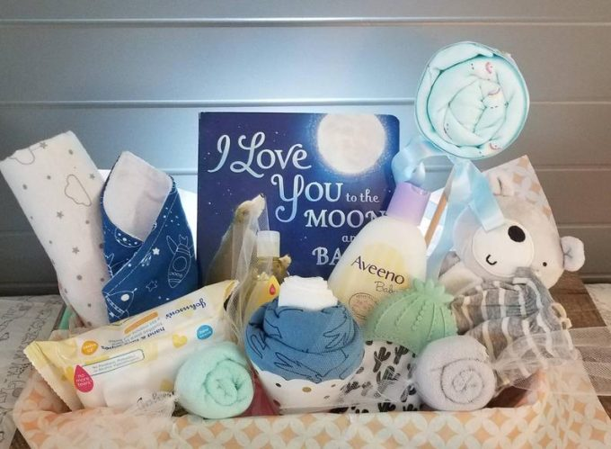 baby gift basket | baby gift for newly pregnant friend