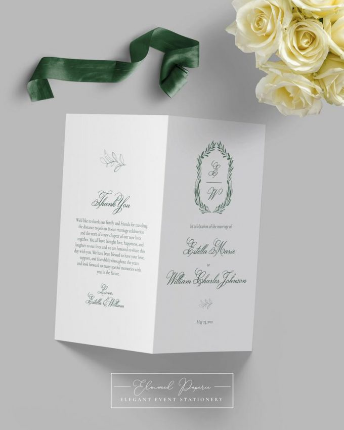 how many wedding programs to order