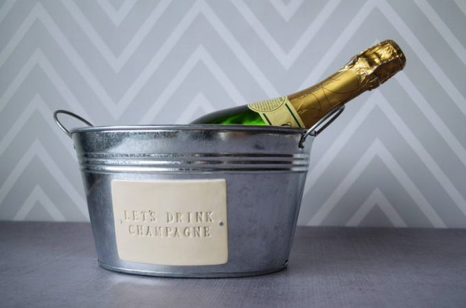personalized metal drink tub