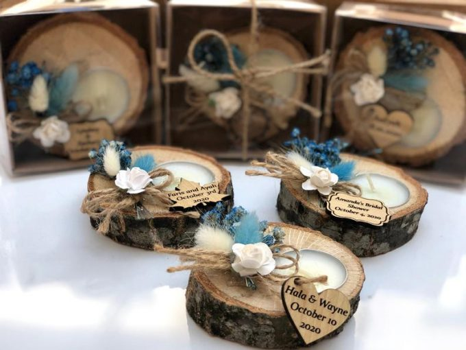 rustic candle favors under 1 dollar