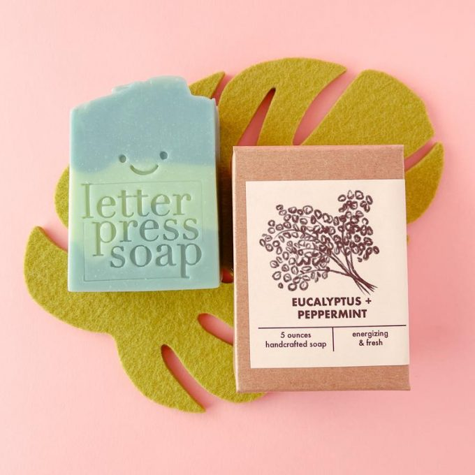 handmade soap with monogram