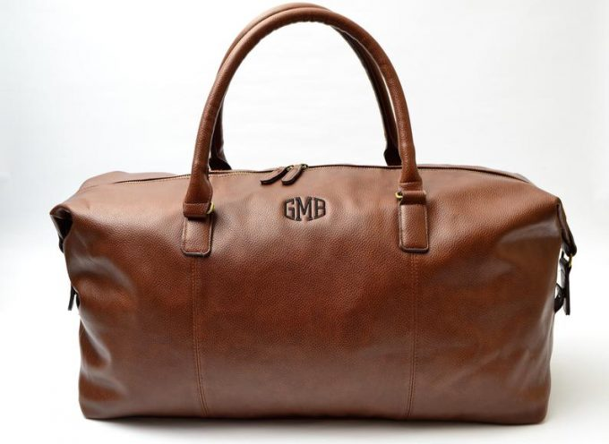 leather groomsmen duffle bags