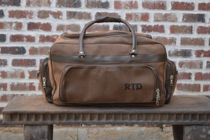groomsmen leather duffle bags