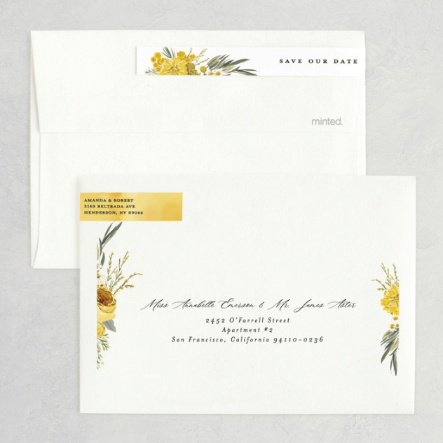 save the dates with addressed envelopes