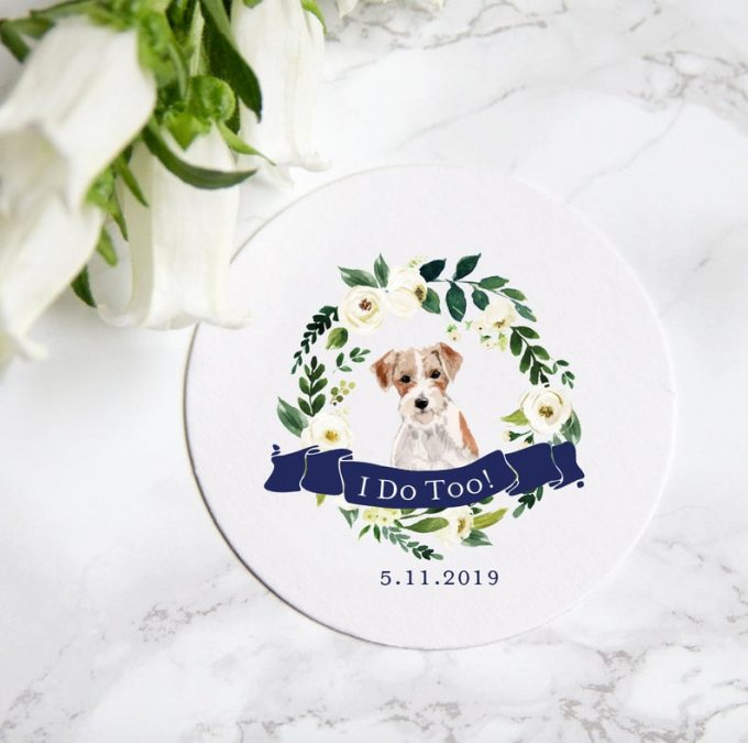 wedding cups with dog face