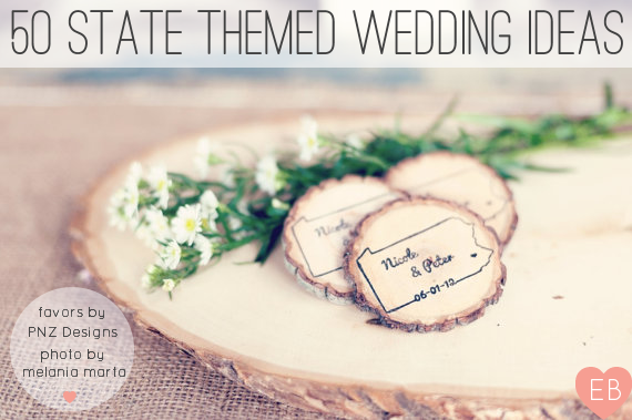 50 state themed wedding ideas