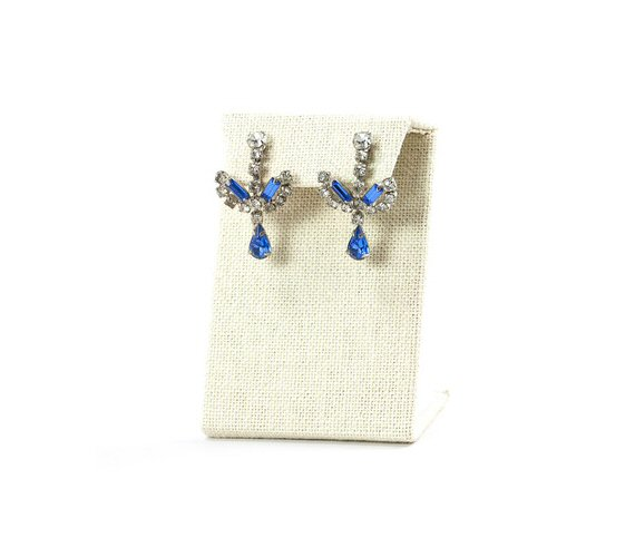 60s blue rhinestone earrings | Vintage Wedding Jewelry (Sweet & Spark)