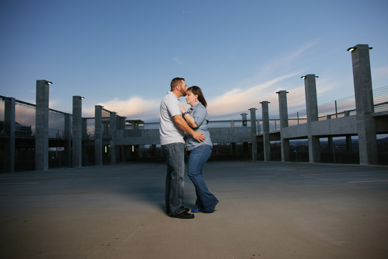 Parking Structure Engagement Session - Vinson Images, LLC