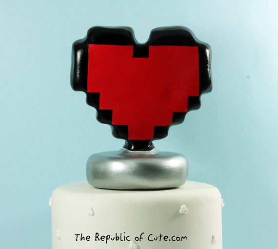 Unique Cake Toppers - 8 bit geeky cake topper