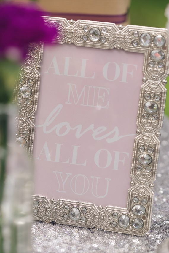 All of Me Loves All of You Signage   Rustic Glam Bridal Shower   styled: adore amor event planning, photo: little blue bird photography   http://emmalinebride.com/shower/rustic-glam-bridal-shower/