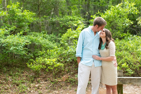 Dhalia Edwards Makeup - jen+ashley photography - First Landing State Park Engagement - couple kiss along in virginia beach