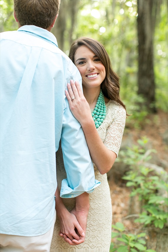 Dhalia Edwards - jen+ashley photography - First Landing State Park Engagement - she smiles with engagement ring