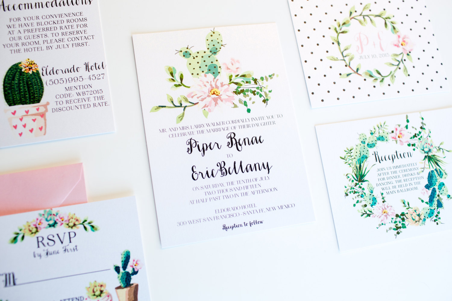 Cactus Weddings Invitations by Diva Gone Domestic