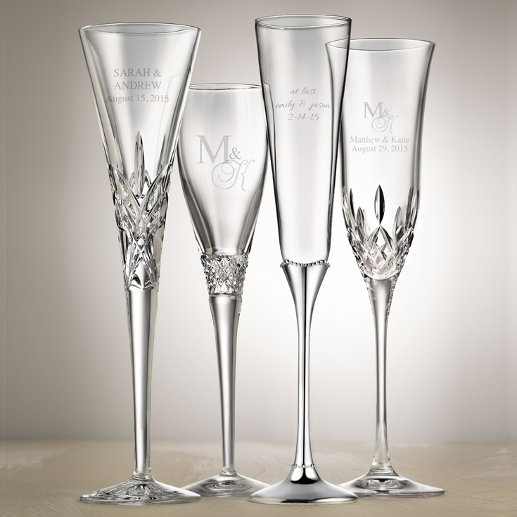 personalized champagne flutes from Things Remembered | via http://emmalinebride.com/2015-giveaway/personalized-champagne-flutes/