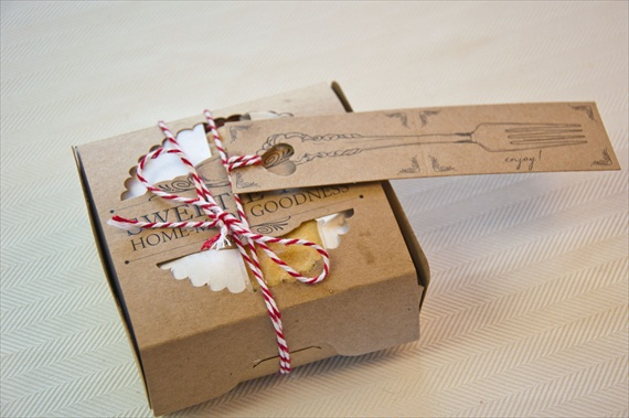 DIY Cherry Pies in a Box Wedding Favor - 4