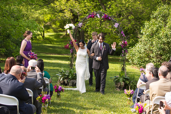 Daniel Fugaciu Photography - bride and groom celebrate marriage, tyler arboretum wedding