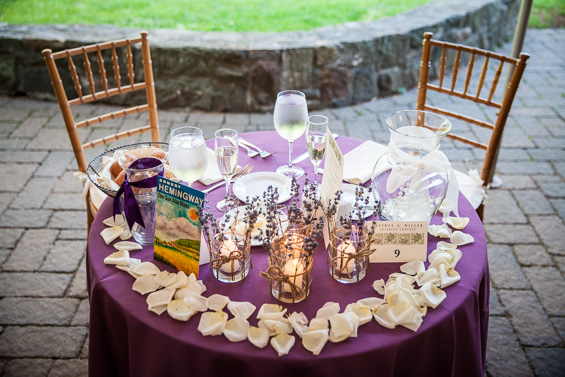 Daniel Fugaciu Photography - purple wedding head table