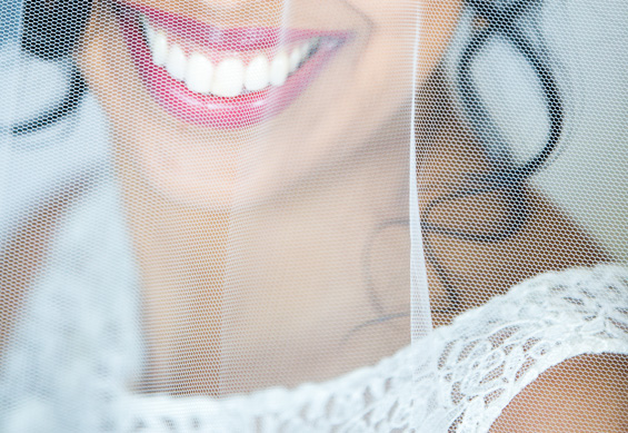 Daniel Fugaciu Photography - bride's smile, white teeth, under veil