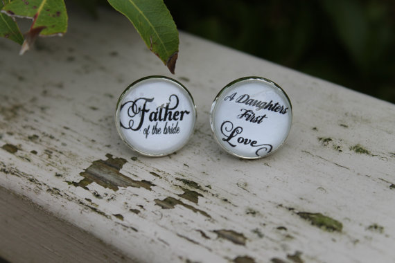 Father of the Bride Cufflinks A Daughters First Love