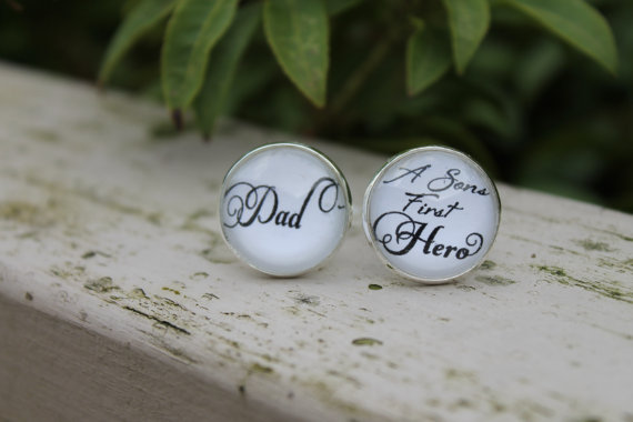 Father of the Groom Cufflinks Dad a Sons First Hero