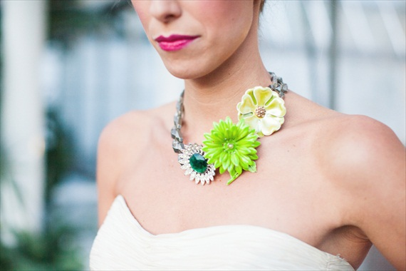 Green Brooch Necklace - The Ritzy Rose