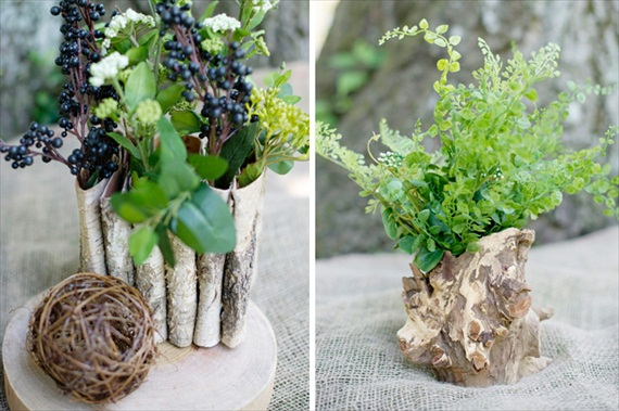 2013 Wedding Trends: Succulents and Birch Bark (by Afloral via Emmaline Bride)