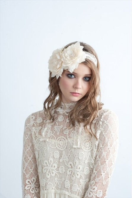 hair accessory by blair nadeau millinery (via emmaline bride) #handmade #wedding