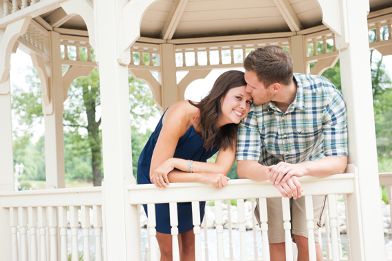 Scott Smith Photography - manor house engagement session - couple-kissing-under-gazebo