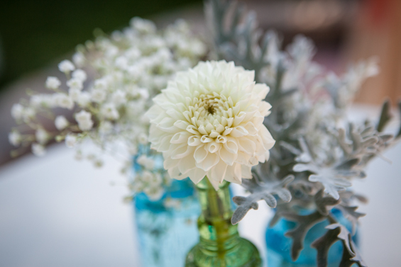 Johnstone Studios - fairytale nevada wedding, wedding flowers in jars