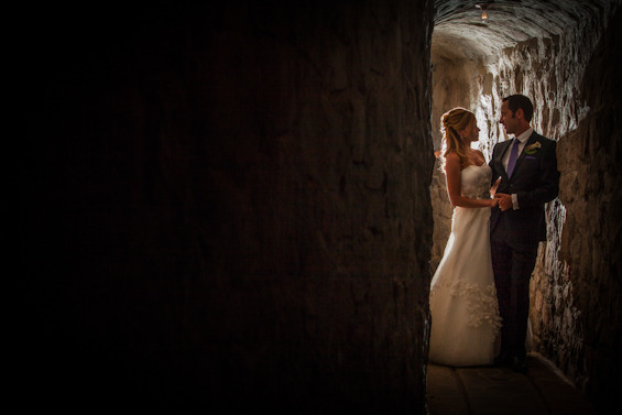 Johnstone Studios - thunderbird lodge wedding - bride and groom in a tunnel